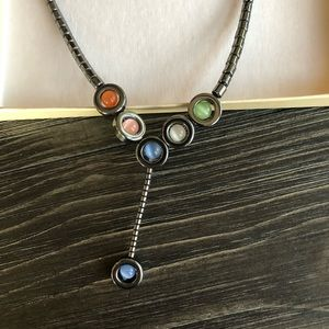 ⛄️4/$20⛄️ Hematite necklace with colorful beads
